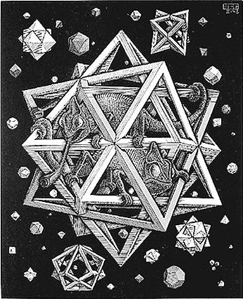 Stars is a wood engraving print created by the Dutch artist M. C. Escher