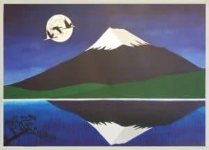 Fujisan by Moonlight