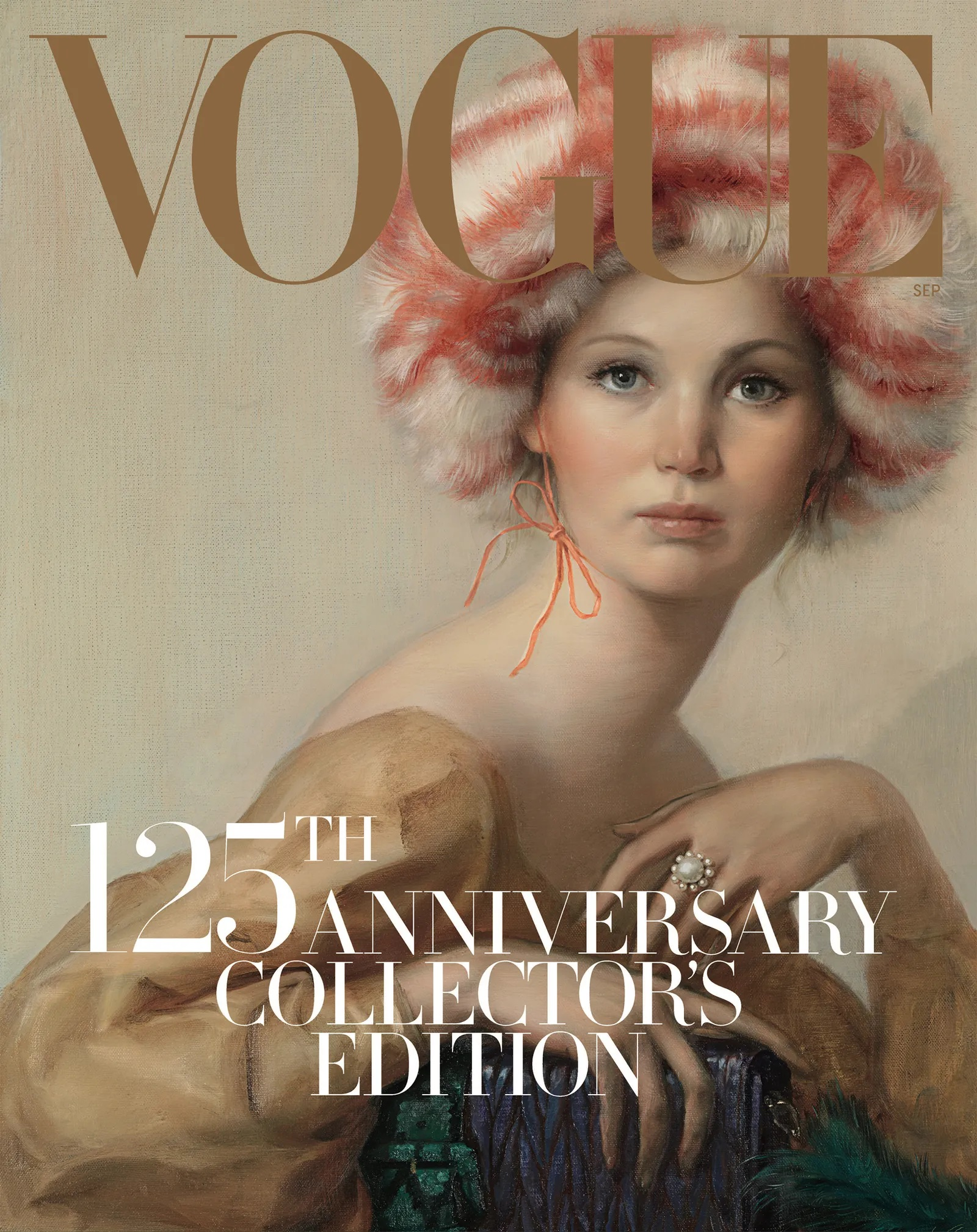 John Currin's 2017 cover for Vogue, Untitled, 2017. ©John Currin. Vogue, 2017