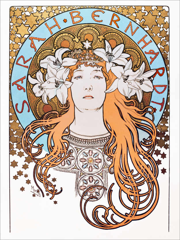 Sarah Bernhardt Poster by Alphonse Mucha
